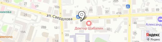 Молоток на карте Костромы