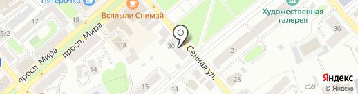 Сорока на карте Костромы
