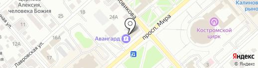 Банкомат, АКБ Авангард, ПАО на карте Костромы