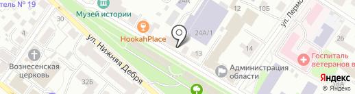 Всероссийская общественная организация ветеранов войны, труда, Вооруженных Сил и правоохранительных органов на карте Костромы