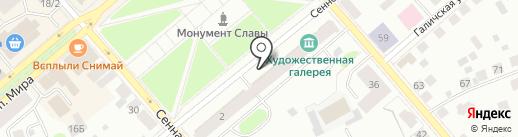 Почтовое отделение №13 на карте Костромы
