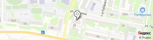 Смик на карте Иваново