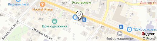 Шатадо на карте Костромы