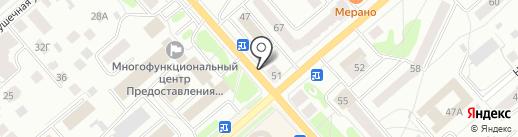 СМГ на карте Костромы