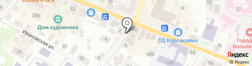 Мансарда на карте Костромы