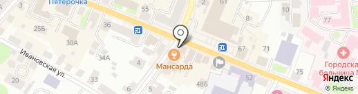 Сателс Кострома на карте Костромы