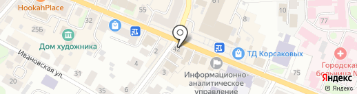 Глория на карте Костромы