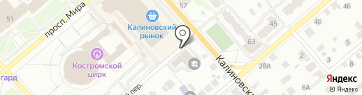 МКК Лига Денег на карте Костромы