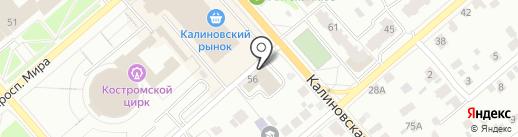 ON-center на карте Костромы