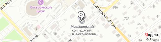 ПСК-Конструктив на карте Костромы