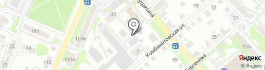 Сауна на Пушкина на карте Костромы