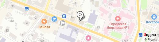 Юнион на карте Костромы