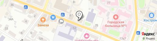 Правосудие на карте Костромы