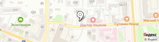 Студия Цвета на карте Костромы