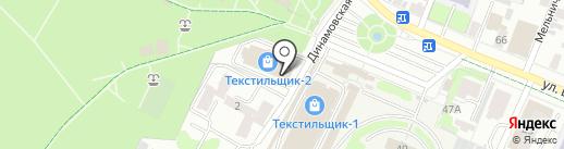 Текстильная мозайка на карте Иваново