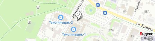 Ившвейстандарт на карте Иваново