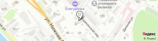 Атэт на карте Костромы