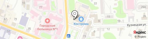 Caramelle на карте Костромы