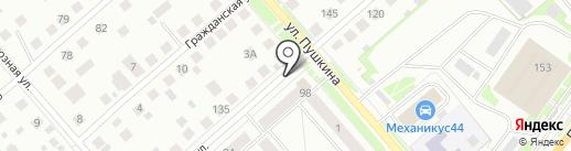 Строй Микс на карте Костромы