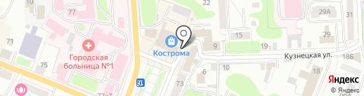 ЖБК44 на карте Костромы