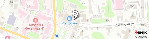 MUA на карте Костромы