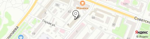 Такском на карте Костромы