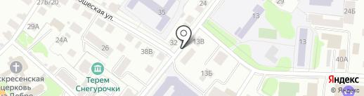 РАДИО ДАЧА, FM 105.3 на карте Костромы