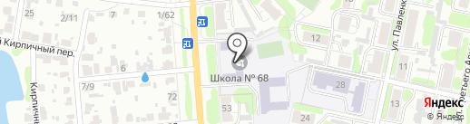Средняя общеобразовательная школа №68 на карте Иваново