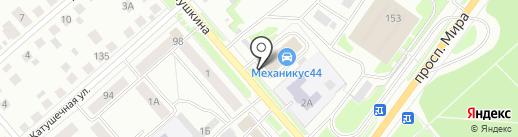 На Пушкина на карте Костромы