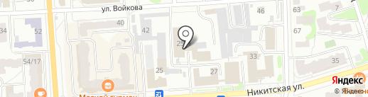 Городские ритуальные услуги, МП на карте Костромы