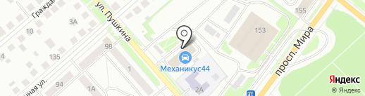 Депо на карте Костромы