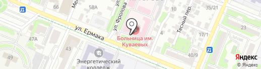 Ивановская клиническая больница им. Куваевых на карте Иваново