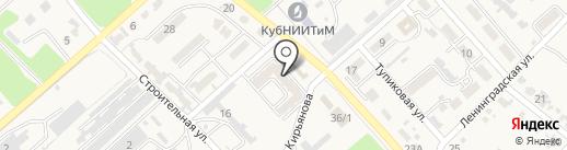 Магазин хозтоваров на карте Новокубанска