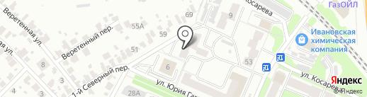 Гостиница Минеево на карте Иваново