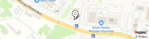 Блок Роско Datsun на карте Коляново