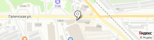 Сварочное оборудование на карте Костромы