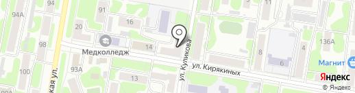 Магазин кондитерских изделий на ул. Кирякиных на карте Иваново