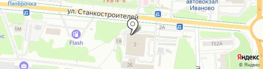 Крепость-авто на карте Иваново
