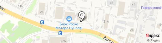 Блок Роско Nissan на карте Коляново