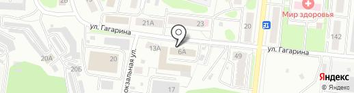 Костромская городская телефонная сеть на карте Костромы