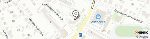Декориум на карте Костромы