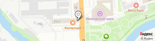 Торговый акцент на карте Иваново