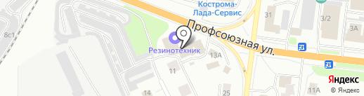 Магазин мебельной фурнитуры и хозтоваров на карте Костромы