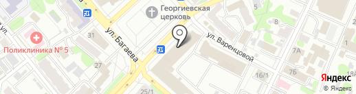 Цветолина на карте Иваново