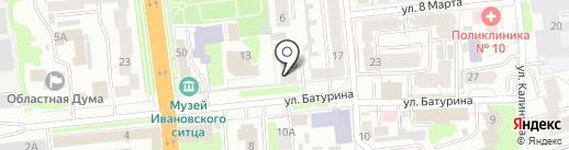 Батурина 15 на карте Иваново