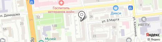 Палитра на карте Иваново