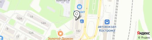 Магистр на карте Костромы