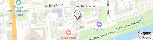 Отделение Пенсионного фонда Российской Федерации по Ивановской области на карте Иваново