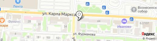Вина-Воды на карте Иваново