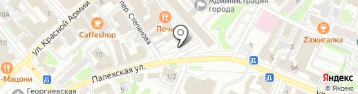 Витязь на карте Иваново